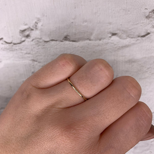 Recycled 9ct Gold wedding band or eco stacking ring.
