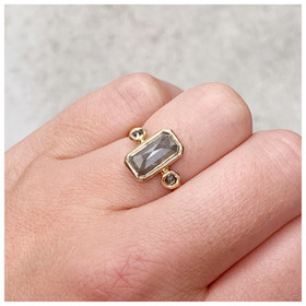 recycled 14ct yellow gold and diamond ring by eco jeweller rebekah ann jewellery.jpeg