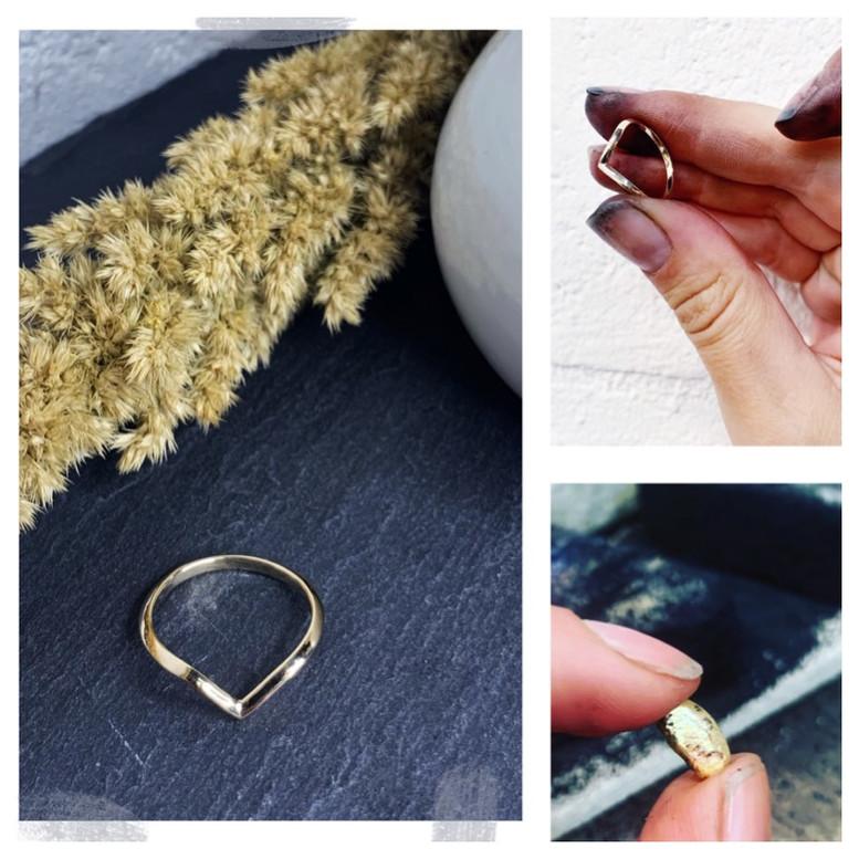 Recycled gold wedding rings Rebekah Ann.