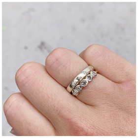recycled white gold rustic diamond rings by rebekah ann jewellery.jpeg