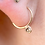 Thumbnail: 9ct recycled gold and diamond hoops earrings. Organic Set Rose Cut Daimonds