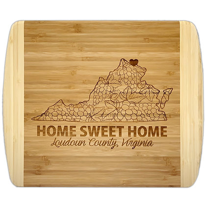 VA Grape Vines - Bamboo Cutting Board