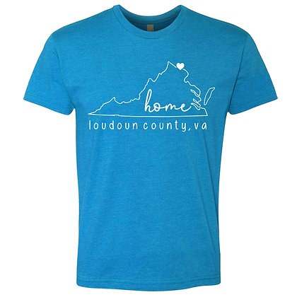 Turquoise VA State T-Shirt