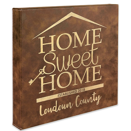 (Square) Home Sweet Home - Leatherette Wall Canvas