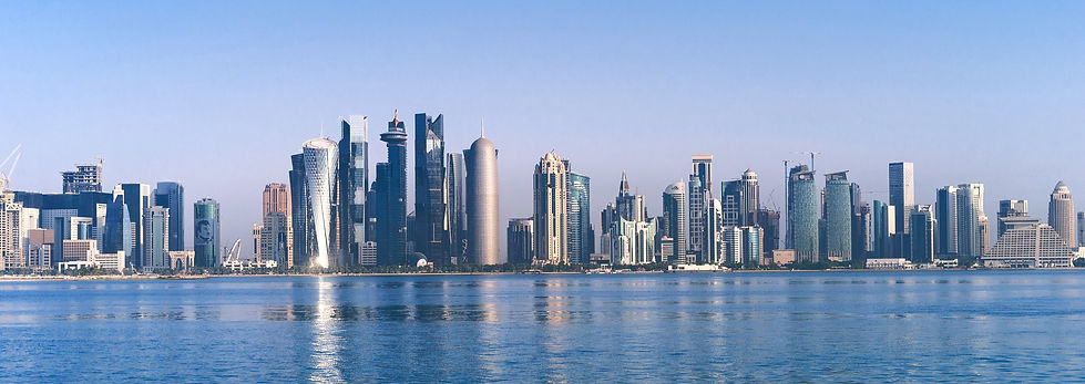 Doha Qatar sky scrappers media production