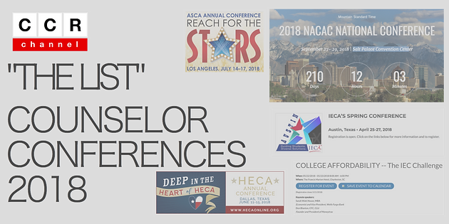 Counselor Conferences For 2018 #National