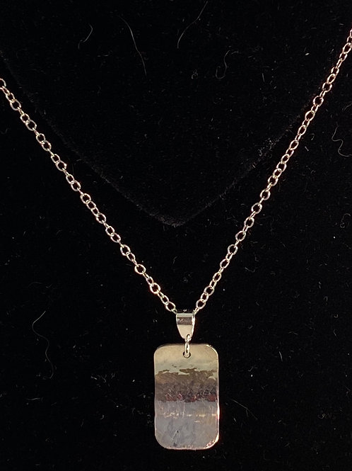 Long sterling necklace