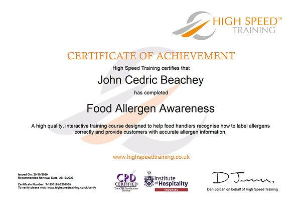 John Cedric Beachey-Food Allergen Awareness.JPG