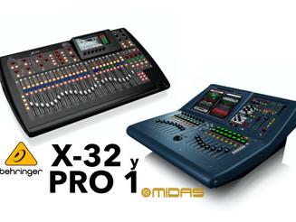 Consolas digitales Behringer X32 y MIDAS Pro1