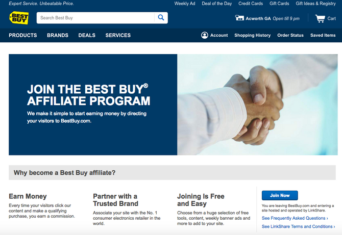 BestBuy affiliates program partnership: How to