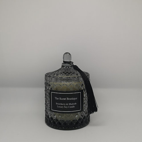 Smoked Grey Diamond Geo Candle