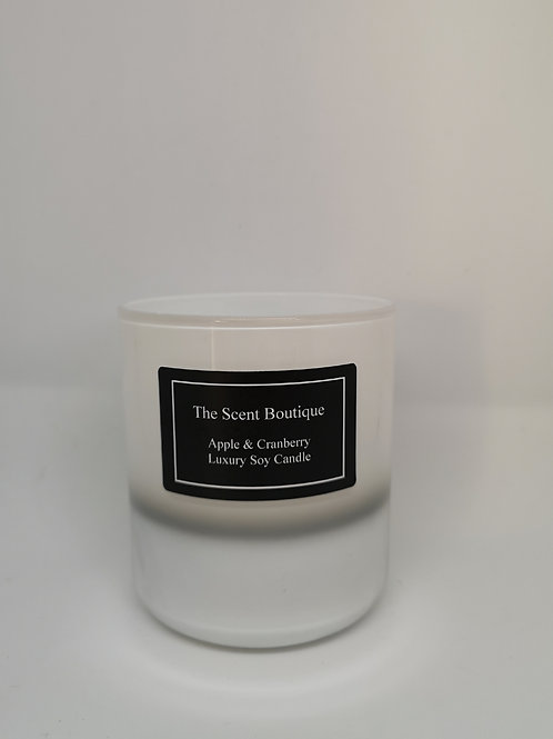 White & Silver Vogue Glam Candle