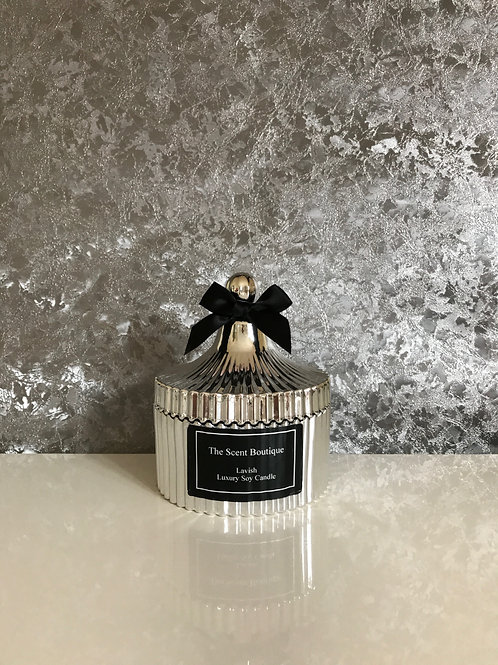 Silver Vintage Candle
