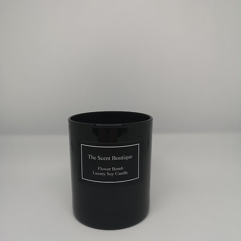 Black Glass Classic Candle
