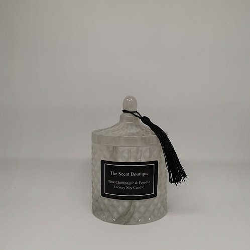 Marble Diamond Geo Candle