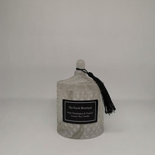 Marble Diamond Geo Candle