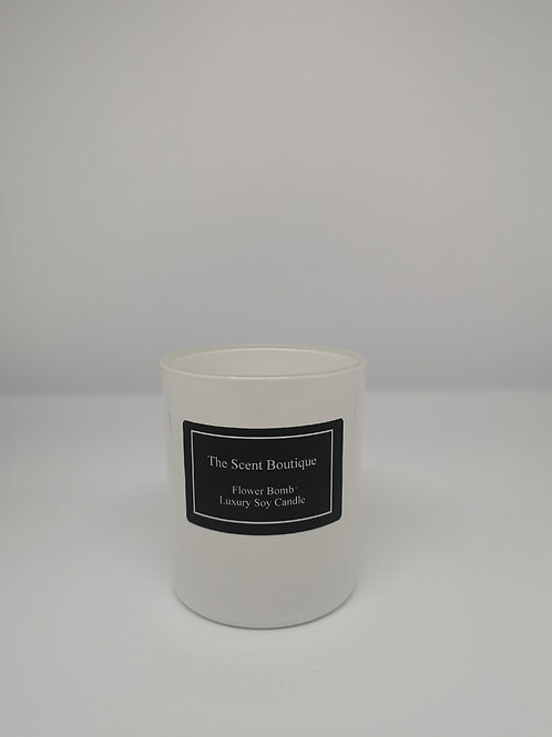 White Glass Classic Candle