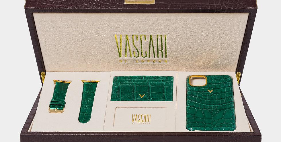 Emerald Green Crocodile Collection Box