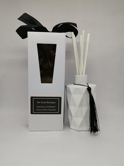 White Glass Diamond Reed Diffuser