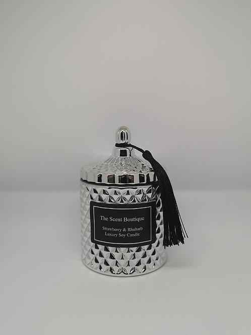 Silver Diamond Geo Candle