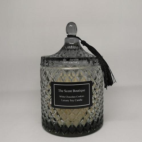 Large Smoked Grey Diamond Geo Candle