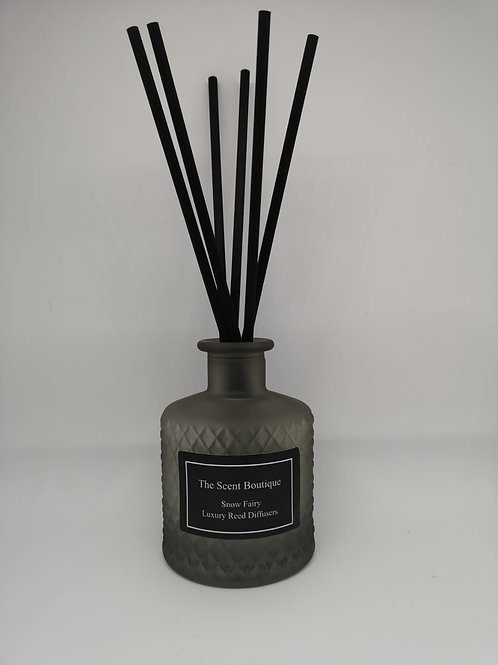 Smoked Grey Glass Bohemian Reed Diffuser