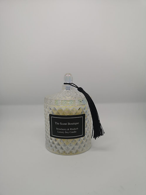 Clear pearl Diamond Geo Candle