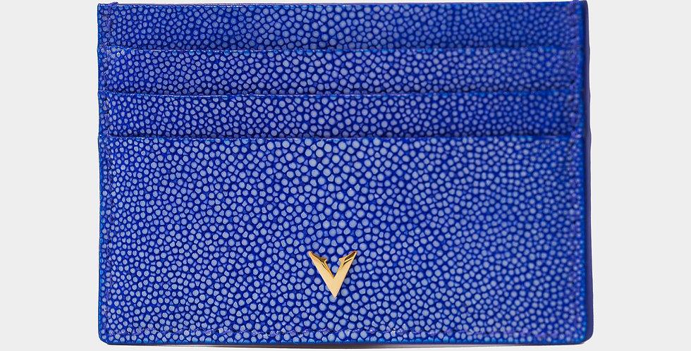 Blue Stingray Skin Cardholder