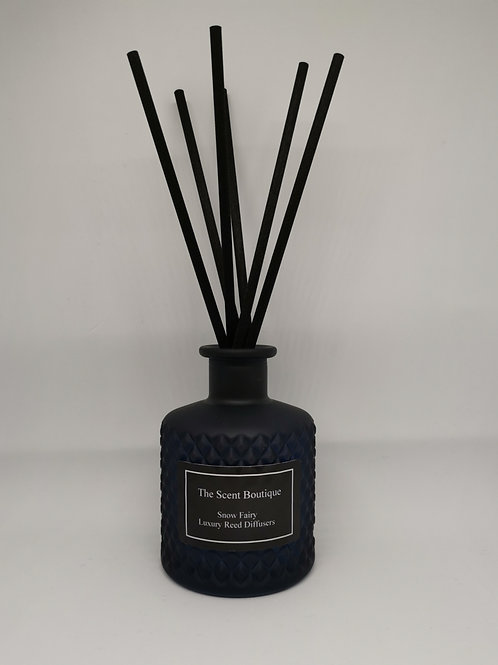 Navy Blue Glass Bohemian Reed Diffuser