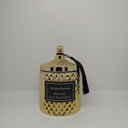 Gold Diamond Geo Candle