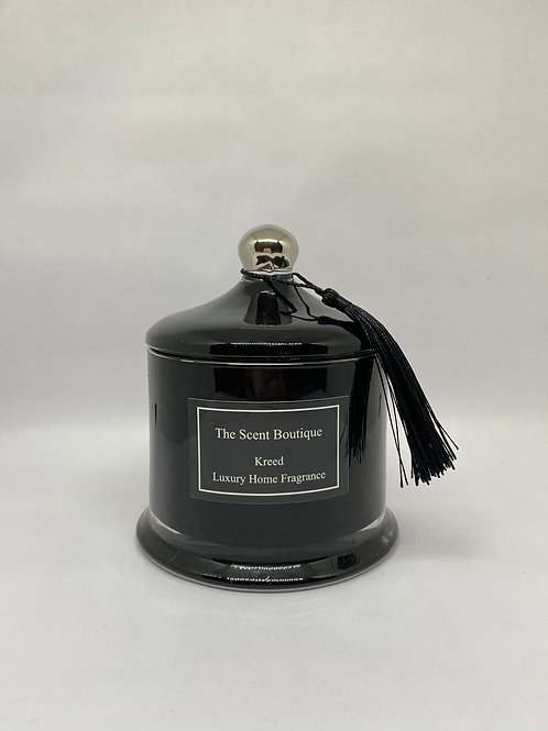 Black And Silver Victoria Candle
