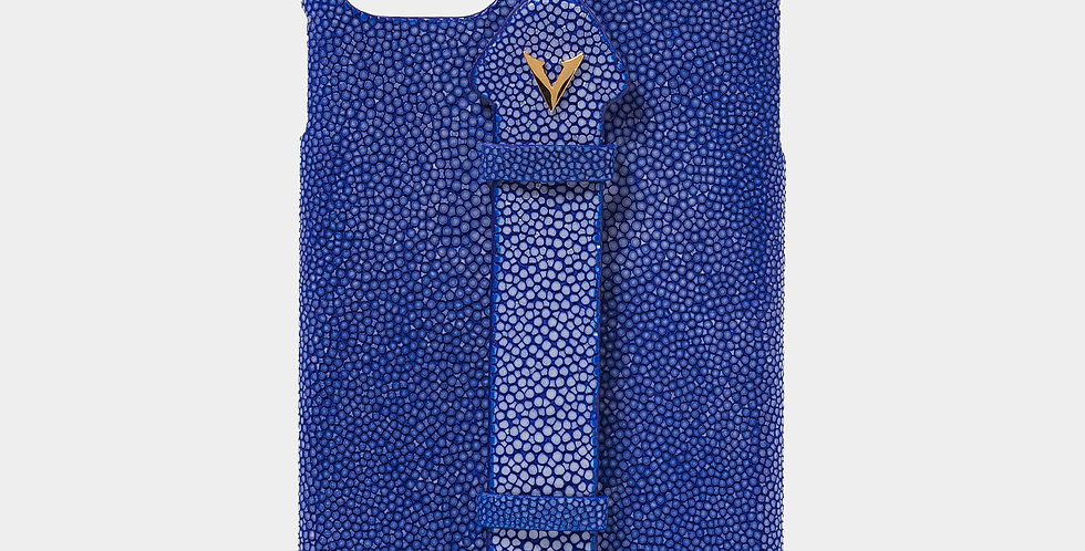 Blue Stingray Skin Case with Fingerholder For iPhone 11 Pro Max
