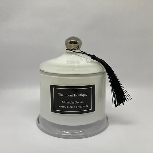 White And silver Victoria Candle