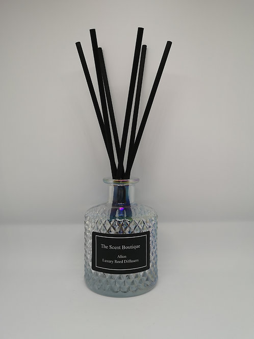Clear Pearl Glass Bohemian Reed Diffuser