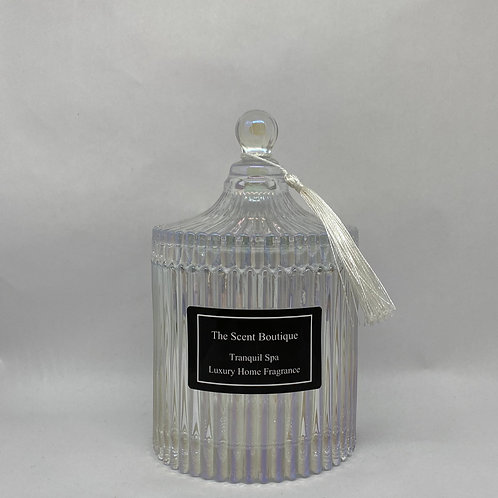 Large Clear Pearl Vintage Candle