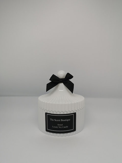 White Vintage Candle