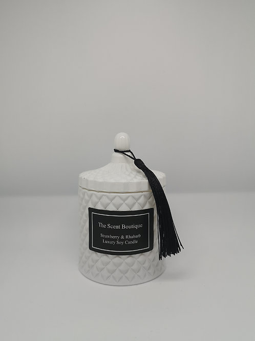 White Diamond Geo Candle