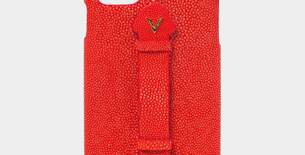 Red Stingray Skin Case with Fingerholder For iPhone 11 Pro Max