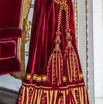 Wilton curtain detail.