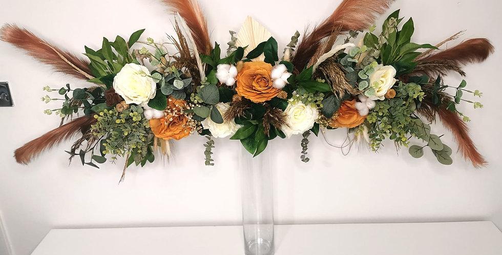 Long head table arrangement