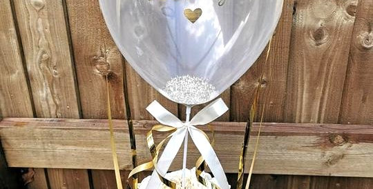 Personalised balloon floral box