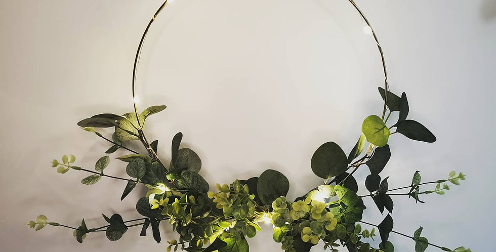 Eucalyptus floral hoop