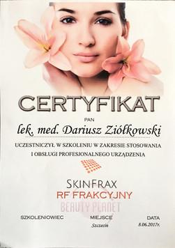 Certyfikat_Capilase_Skin_Frax_Dariusz_Zi