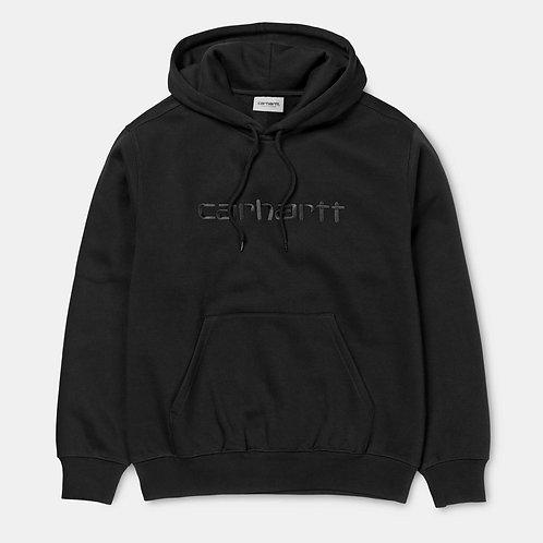 Толстовка Carhartt I027093 Hooded Carhartt Sweatshirt black black