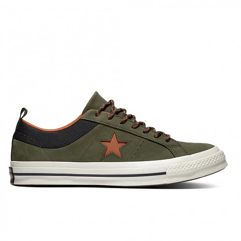 Кеды Converse One Star C162544 SP Leather олива