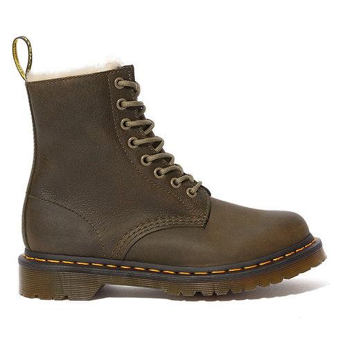 Ботинки мех Dr.Martens Serena 24989355 Fur Lined oliva