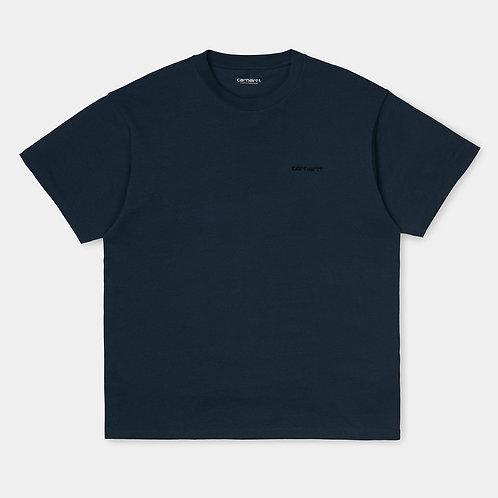 Футболка Carhartt I025778 SS Script Embroidery admiral black