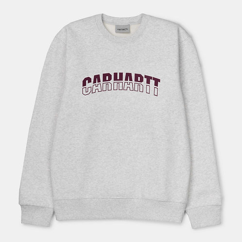 Свитшот Carhartt I027679 District Sweatshirt ash heather shiraz