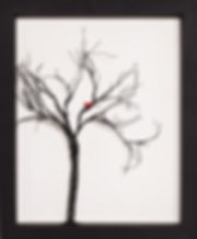 Tree with Red Bird