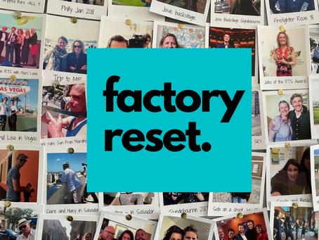 Factory reset: We're becoming an arts focused indie.